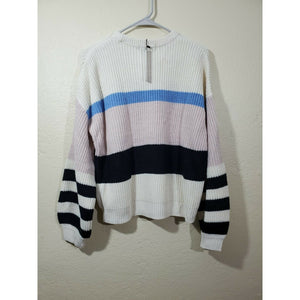 Sanctuary women's multi color block sweater size S