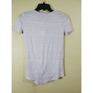 Lauren Ralph Lauren women's purple striped tie front shirt size XXS