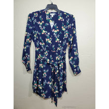 Load image into Gallery viewer, Maison Jules women's blue floral print dress size XS