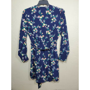 Maison Jules women's blue floral print dress size XS