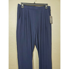 Load image into Gallery viewer, Vince Camuto women's blue slinky pants w/ pockets size S