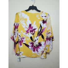 Load image into Gallery viewer, JM Collection women's multi colored floral print blouse size M