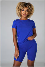 Load image into Gallery viewer, Royal blue Jersey 2 peice pant set