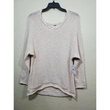 Load image into Gallery viewer, Free People women's beige knit sweater blouse size XL