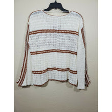 Load image into Gallery viewer, Free People women's crochet knit crop blouse size L