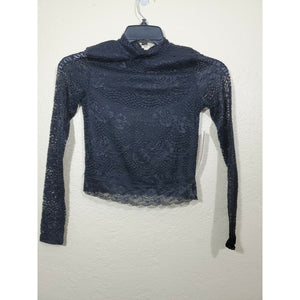 Crave Fame women's lace long sleeve top size S