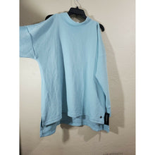 Load image into Gallery viewer, Ideology women's light blue high neck cold shoulder pullover active top size 1X