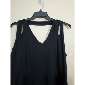 City Chic women's black strappy blouse size L/ 20