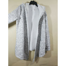 Load image into Gallery viewer, Ideology women's black and white open front hoodie robe size L