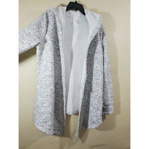Ideology women's black and white open front hoodie robe size L