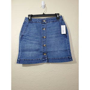 Maison Jules women's medium wash denim mini skirt size 2