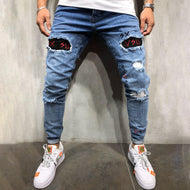Men's casual fashion ripped slim fit jeans TT230