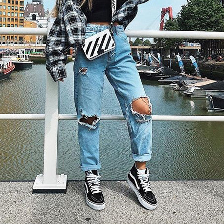 Womens ripped jeans