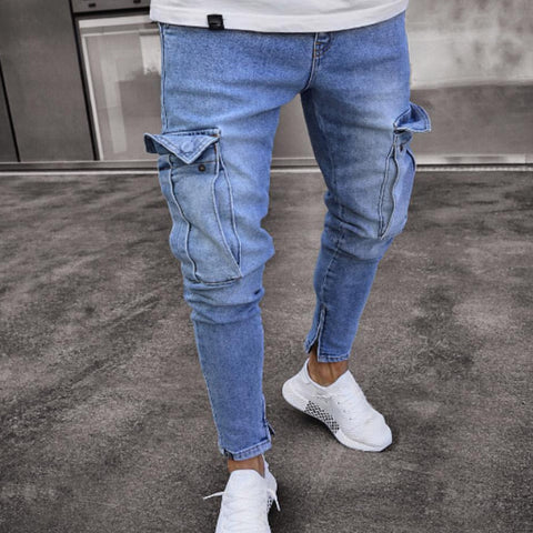Pockets Zips Casual Jeans