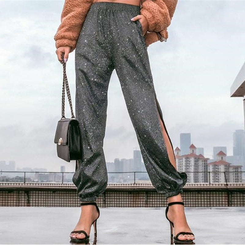 Fashion Sexy Side Opening Design Casual Pants