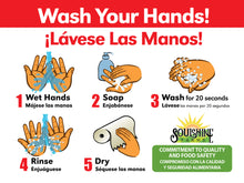 Load image into Gallery viewer, Bilingual Hand Wash Sign with Company Branding