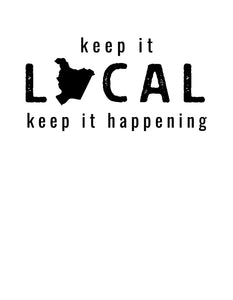 Keep It Local - Rust Tee