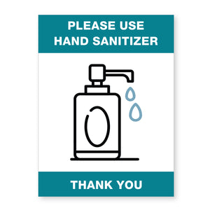 Sanitizer Sign