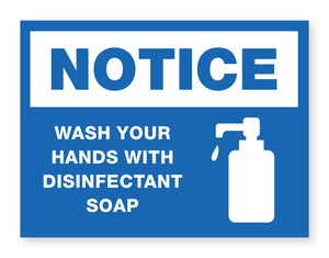 Disinfectant Soap Sign