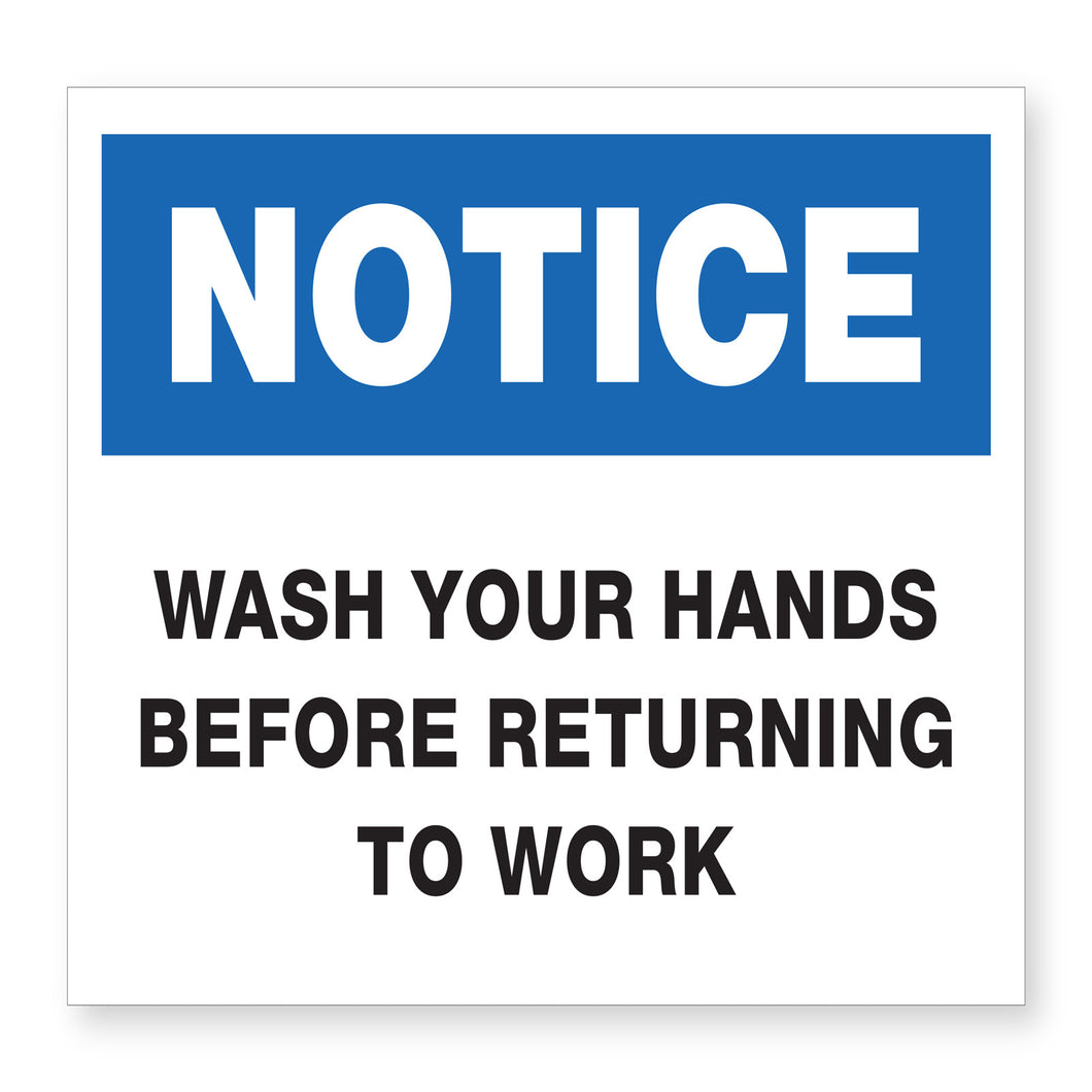 Hand Wash Notice Sign