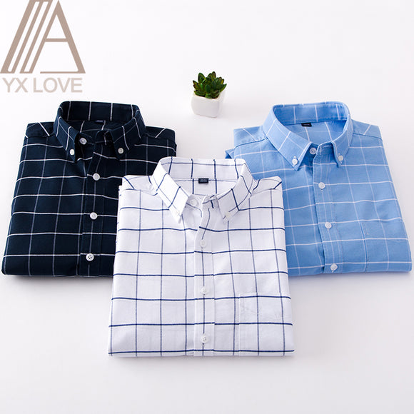 100% Cotton 2020 New Fashion Men Shirt S-4XL Size Long Sleeve Handsome Quality Comfortable Slim Daily Causal Street Wear Clothes 1