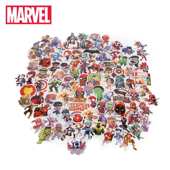 100pcs/set Marvel Toys Avengers Endgame labels extremely Hero Hulk Iron Man Spiderman Captain American automobile car label