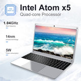 15.6 Inch 4GB RAM 128GB 256G SSD Notebook Intel E8000 Quad Core Laptop  Student netbook with HDMI WiFi Bluetooth for office