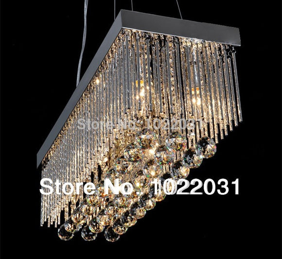 6 bulb K9 crystal Chandelier popular design square New modern 90V ~260V E14 crystal lights Factory price  Bedroom lamp Hall