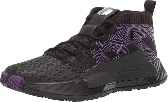 adidas Men's Dame 5 Black/ Active Purple/ Silver