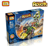 Motor Building Toys 3-Eyed Robot Brick Block electriccal
