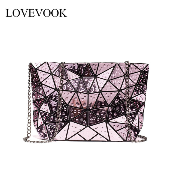 LOVEVOOK women crossbody bags 2020 foldable messenger bag with retro for lasies shoulder bag geometric bag Laser water droplets