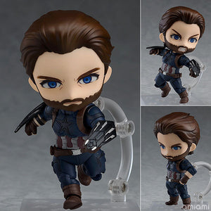 Marvel Avengers: Infinity War Nendoroid 923 Captain American adorable Kawaii extremely Hero 10cm Action Figure Toys