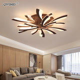 Modern LED ceiling chandelier lights for living room bedroom Dining Study Room White Black Body AC90-260V Chandeliers Fixtures