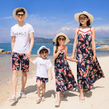 Mother Daughter Maxi Long Dresses Bohemian Style Family Look Daddy Baby Father Son Daughter Kids Shirts Tops Pants Family Suits