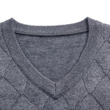 New Fashion Brand Vest Sweaters Men Pullover V Neck Slim Fit  Jumpers Knitwear Winter Jacquard Sleeveless Casual Mens Clothes
