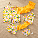 PatPat In Stock On Sale Baby Clothing Summer Banana Family Matching Swimsuit Matching Outfits / Family Look / Swimwear
