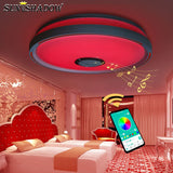 RGB Led Chandelier For Living room Bedroom Kitchen Modern Led Ceiling Chandelier Lighting Bluetooth Lights Music Light Fixtures