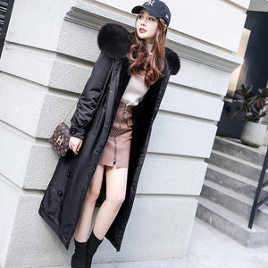 Real Fur Coat Women Sheep Fur Liner Parka Winter Coat Women Wool Jacket Womens Clothing Abrigos Mujer Invierno 2020 FXY9026YY716