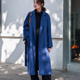 SHENGPALAE 2020 Winter High Quality Overcoat Two-sided Cashmere Overcoat Woolen Loose Clothes Woman Cashmere Trench Coat A69