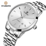 STARKING Mechanical Watch Men Miyota Movt Stainless Steel Wristwatch Sapphire Automatic Self-wind Men Watch Relogio 3ATM AM0171