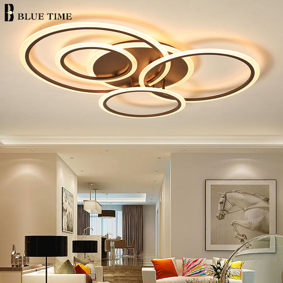 Surface Mounted Modern Led Chandelier For Living room Bedroom Dining room Kitchen Lustre Circles Led Ceiling Chandelier Lighting