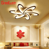 White 6Heads /3 Heads Modern Led Chandelier ceiling lustre Lamp AC110V 220V Acrylic Led Ceiling Chandelier Lamps for Living Room