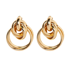 an and American fashion trend metal ring earrings atmospheric female ring winding exaggerated earrings personality cross-border earrings