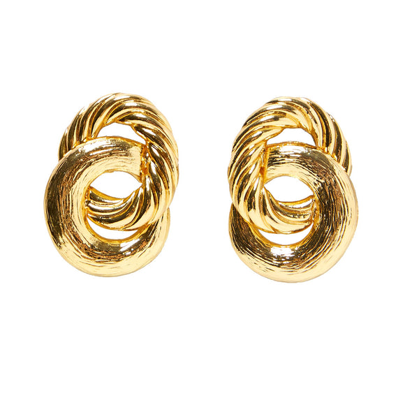 an and American personality alloy circle winding tide female earrings ZA new fashion jewelry popular wild earrings cross-border