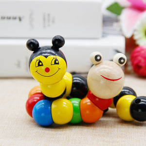 colourful wood Worm Puzzles Kids Learning educating Didactic Baby Development Toys Fingers puzzle for baby Montessori Gifts
