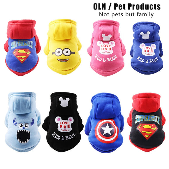 dog winter clothes Cartoon Print Pet Dog Clothes Jacket for Small Dogs Chihuahua French Bulldog Teddy Costume Pets Clothing