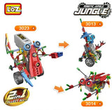ideas Motor Building Block Combined Robot Jungle Machine Monkey design