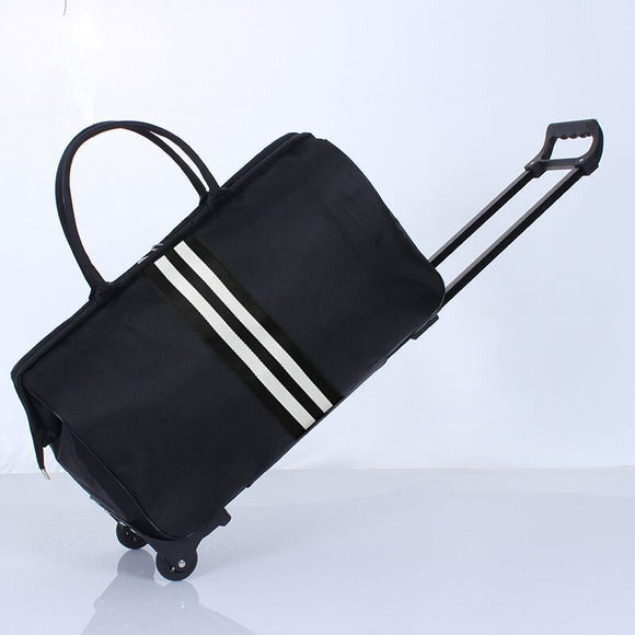 Striped Carry-On Trolley Bag