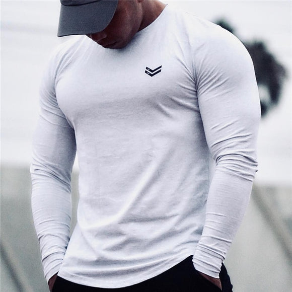 New Long Sleeve O-Neck T Shirt Men