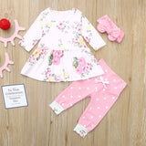 Floral baby clothes set